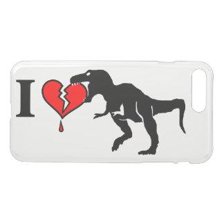 Waarschuwing! de dinosaurus eet hart iPhone 8/7 plus hoesje