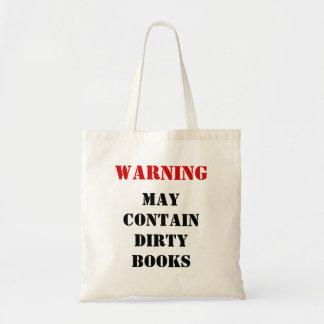 WAARSCHUWING: Mag Vuile Boeken bevatten Draagtas