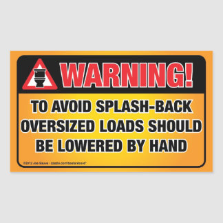 WAARSCHUWING - vermijd plons-AchterBadkamers Rechthoekige Sticker