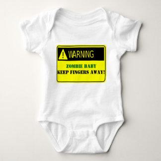 WAARSCHUWING-ZOMBIE WEG HOUDT HET BABY VINGERS ROMPER