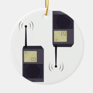 Walkie-talkie Rond Keramisch Ornament