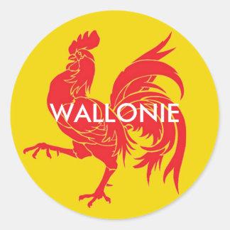 Wallonië België Ronde Sticker