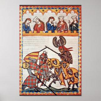 Walter van Bladen in de Toernooien door Meister Poster