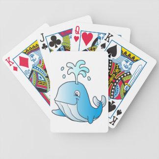 walvis cartoon bicycle speelkaarten