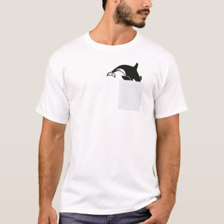 Walvis in Mijn Grappige T-shirt van de Zak