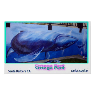 walvis muurschildering poster