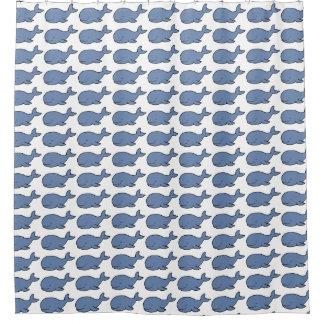 walvissen leuk blauw douchegordijn