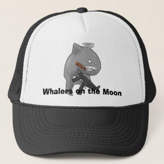Walvisvaarders op het pet van de Maan
