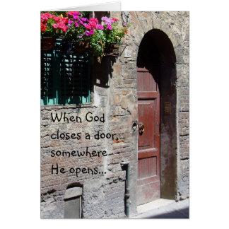 Wanneer de God een Kaart van de Deur sluit