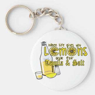 wanneer het leven u citroenen geeft sleutelhanger