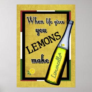Wanneer het Leven u geeft maken de Citroenen Limon Poster