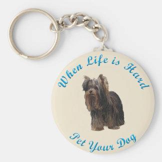 Wanneer het Leven (Yorkshire Terrier) Hard is Sleutelhanger