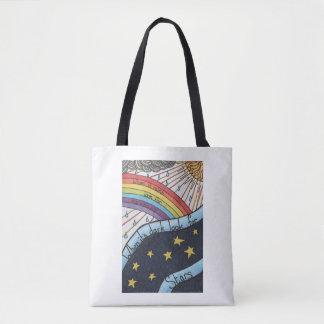 Wanneer het regent zoek regenbogen draagtas