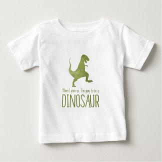 Wanneer ik groei, ga ik een Dinosaurus zijn Baby T Shirts