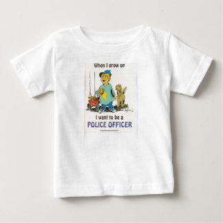 Wanneer ik groei, wil ik een politieambtenaar zijn baby t shirts