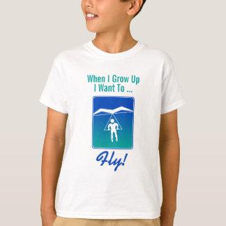 Wanneer ik groei wil ik T-shirt vliegen