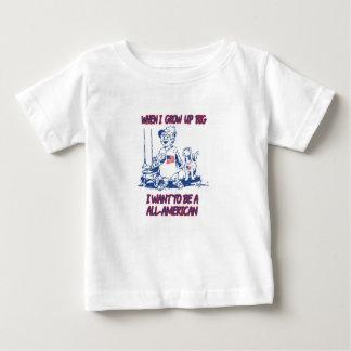 Wanneer ik groot groei, wil ik een alle-Amerikaan Baby T Shirts