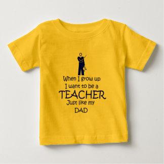 Wanneer ik Leraar groei Baby T Shirts