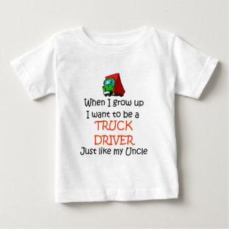 Wanneer ik Vrachtwagenchauffeur groei Baby T Shirts