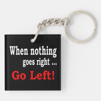 Wanneer niets. net gaat. Ga links - Keychain Sleutelhanger
