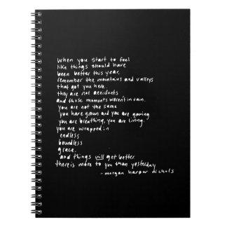 wanneer u indien om als dingen begint te voelen notitieboek