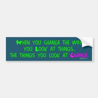 Wanneer u verandert, de sticker van de Bumper