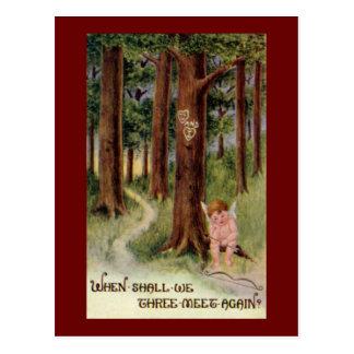 Wanneer wij het Vintage Briefkaart van Valentijn