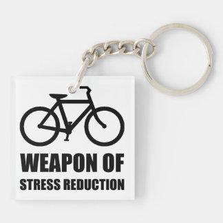 Wapen van de Vermindering Biking van de Spanning 2-Zijde Vierkante Acryl Sleutelhanger