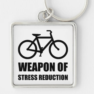 Wapen van de Vermindering Biking van de Spanning Zilverkleurige Vierkante Sleutelhanger