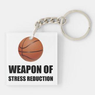 Wapen van het Basketbal van de Vermindering van de 2-Zijden Vierkante Acryl Sleutelhanger
