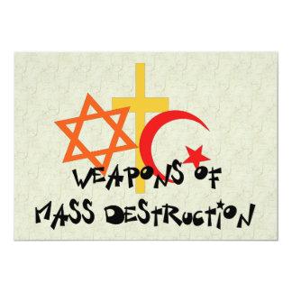 Wapens van de Vernietiging van de Massa 12,7x17,8 Uitnodiging Kaart
