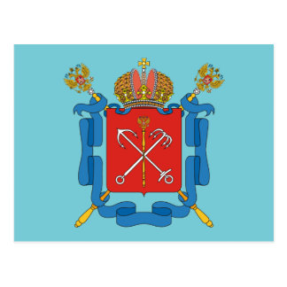 Wapenschild van Heilige Petersburg Briefkaart