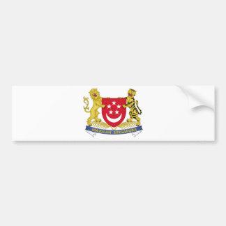 Wapenschild van het Embleem van Singapore 新加坡国徽 Bumpersticker