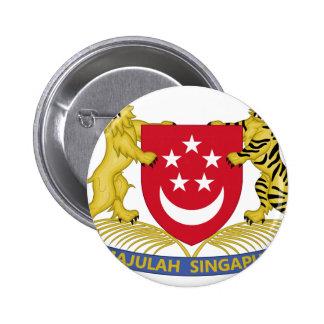 Wapenschild van het Embleem van Singapore 新加坡国徽 Ronde Button 5,7 Cm