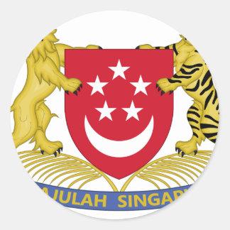 Wapenschild van het Embleem van Singapore 新加坡国徽 Ronde Stickers