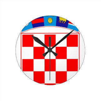 Wapenschild van Kroatië, Kroatisch Embleem, Ronde Klok