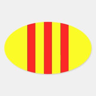 Wapenschild van Zuid-Vietnam (1963 - 1975) Ovale Sticker