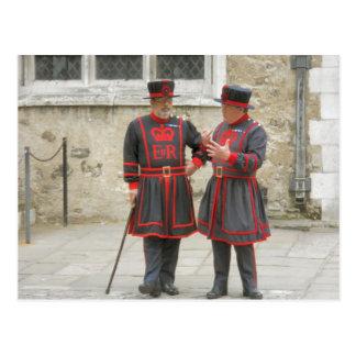 Warders van de kleine landeigenaar in de briefkaart