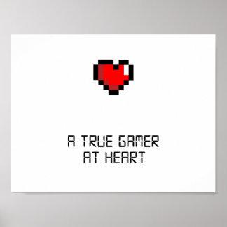 Ware Gamer bij het Poster van het Hart