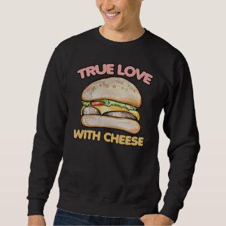 Ware liefde met de liefde van de kaascheeseburger trui