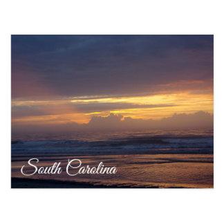 Warm Zonlicht op Strand het Zuid- van Carolina Briefkaart