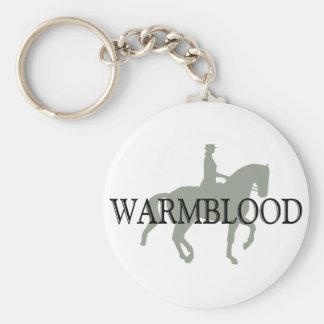 WARMBLOOD met het Paard & de Ruiter van de Dressuu Sleutelhanger