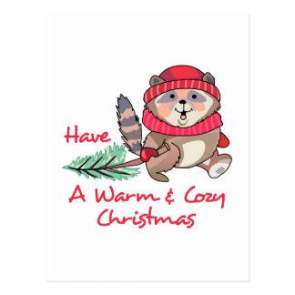 Warme & Comfortabele Kerstmis Briefkaart