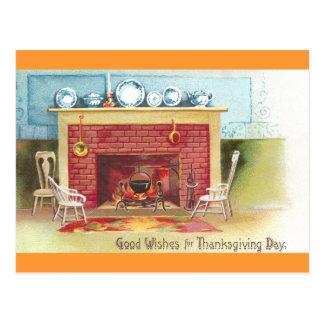 Warme en Comfortabele Thanksgiving Briefkaart