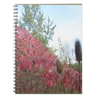 Warme herfst van Goodluck van de Druk van de Ringband Notitieboek