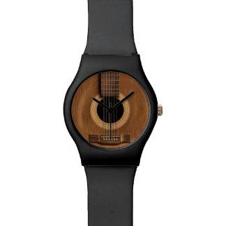 Warme Houten Akoestische Gitaar Horloge