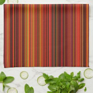 Warme Kleur - Trendy Stijl - het Patroon van de Theedoek