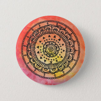 Warme Knoop Mandala door Megaflora Ronde Button 5,7 Cm