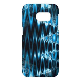 Warped Glass (blue) Samsung Galaxy S7 Hoesje