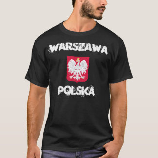 Warschau, Polska, Warshau, Polen met wapenschild T Shirt